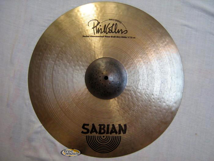 Photo annonce Ride Sabian Raw Bell Dry 21 Phil Collins