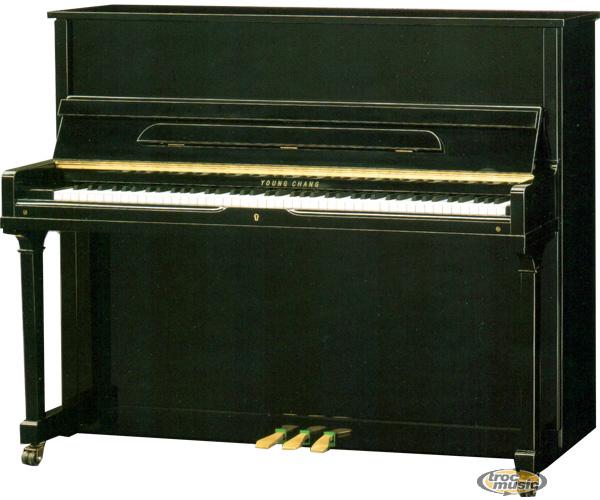 Photo annonce Piano droit Young Chang laque noir E 118