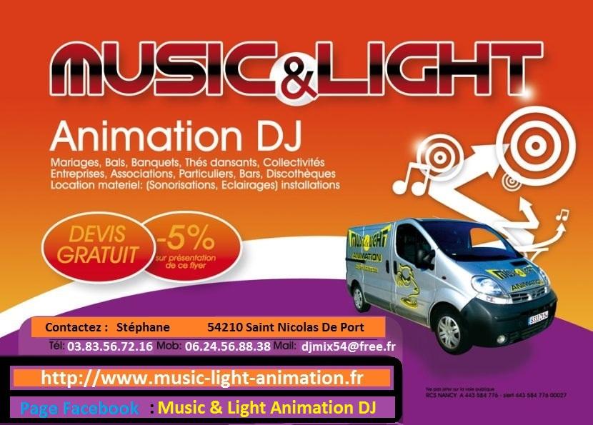 Photo : Sonorisation     Eclairages Music Light Nancy