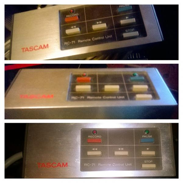 Photo : Tascam     Rc    71 Telecomande pour Tascam 38