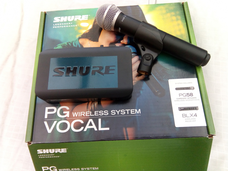 Photo annonce Shure    BLX24   PG58 FREQ M17 micro HF Chant