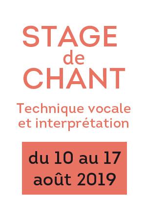 Photo : Stage de chant Dominique Moaty 10 au 17 aout