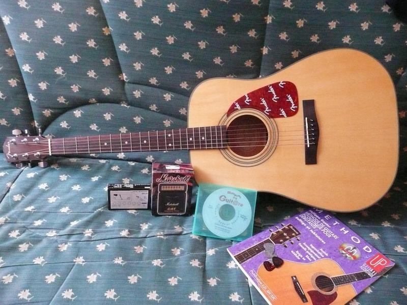 guitare folk fender accessoires petite annonce trocmusic. Black Bedroom Furniture Sets. Home Design Ideas