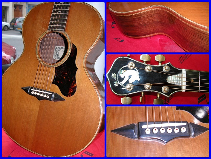 guitare folk franck cheval petite annonce trocmusic. Black Bedroom Furniture Sets. Home Design Ideas