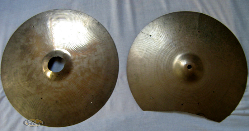 Photo annonce Cymbales Crash Sabian 16  fissurees et percee