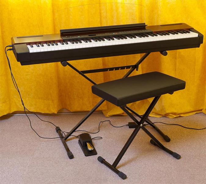 piano yamaha p 120 pied x banc clavier petite annonce trocmusic. Black Bedroom Furniture Sets. Home Design Ideas