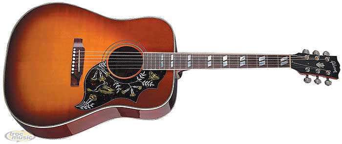 photo guitare electro acoustique gibson hummingbird. Black Bedroom Furniture Sets. Home Design Ideas