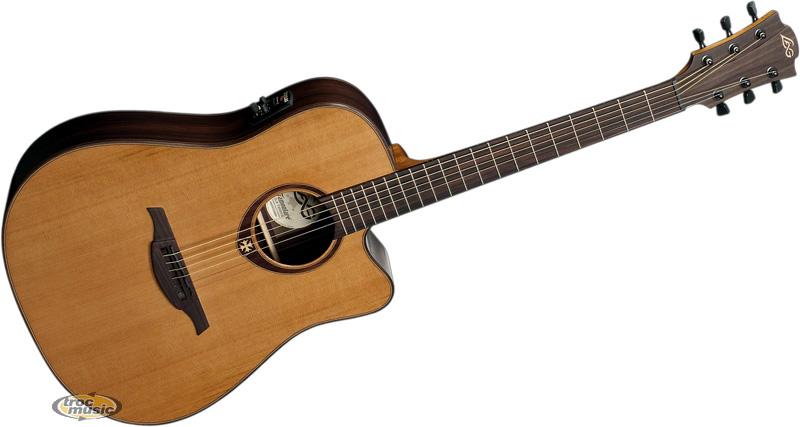 achat lag t300dce prix guitare electro acoustique. Black Bedroom Furniture Sets. Home Design Ideas